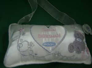 Me To You Tatty Teddy.. Special Bridesmaid..cushion..cream.. wedding..